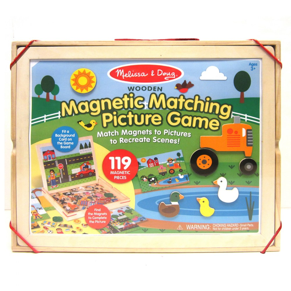 Alternate Image #4 of Wooden Magnetic Matching Picture Game