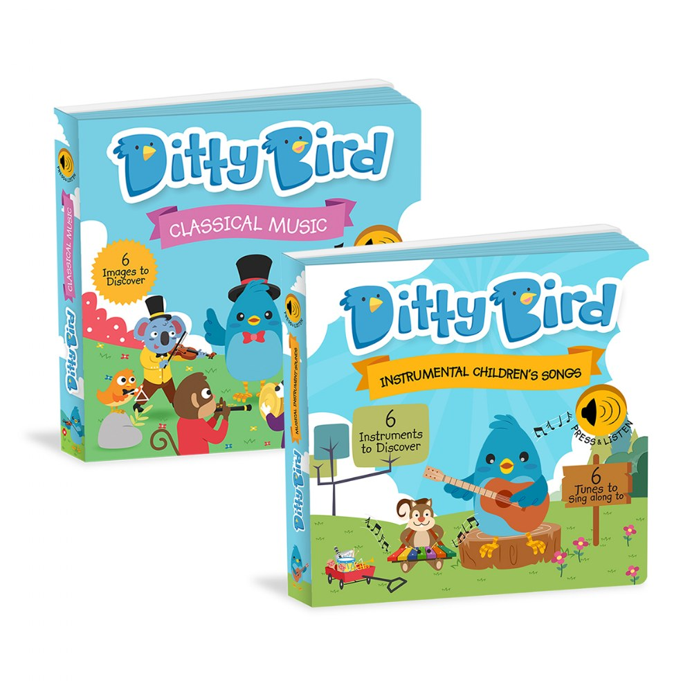 Ditty Bird Instrumental and Classical Song Books - Set of 2