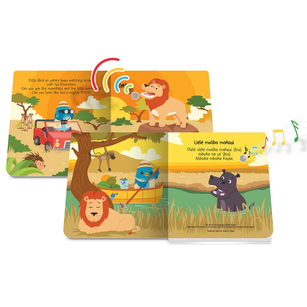 Alternate Image #2 of Ditty Bird Safari Animal and Dinosaur Sound Books - Set of 2