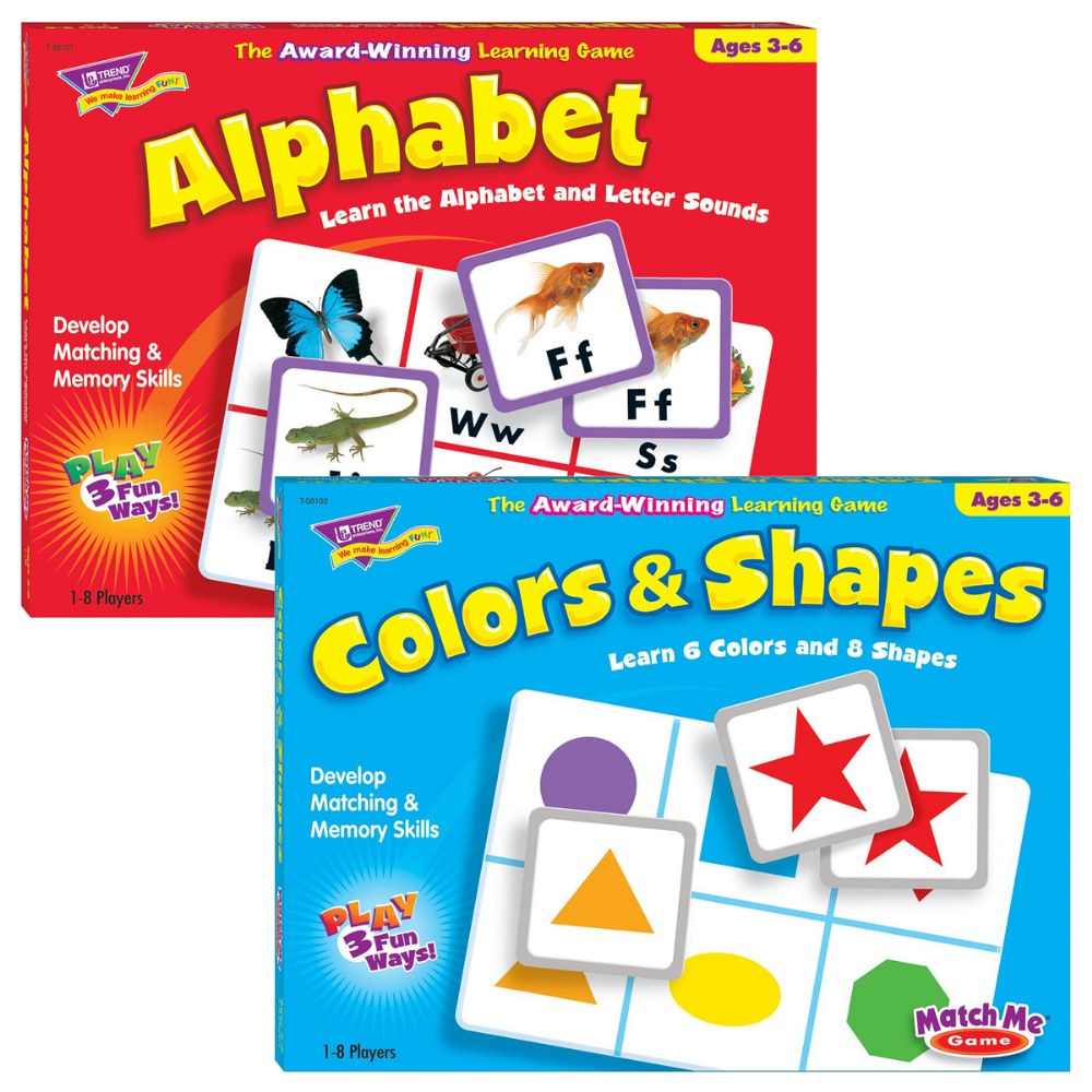 Match Me Game Set - Alphabet & Color and Shapes