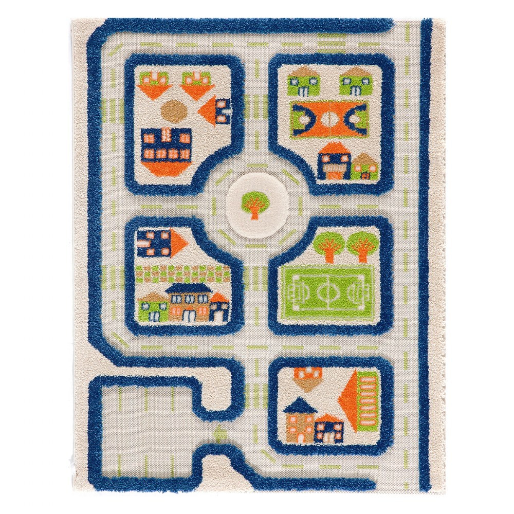 "IVI Traffic 3D Play Rug - Blue 31.5"" x 44.5"""