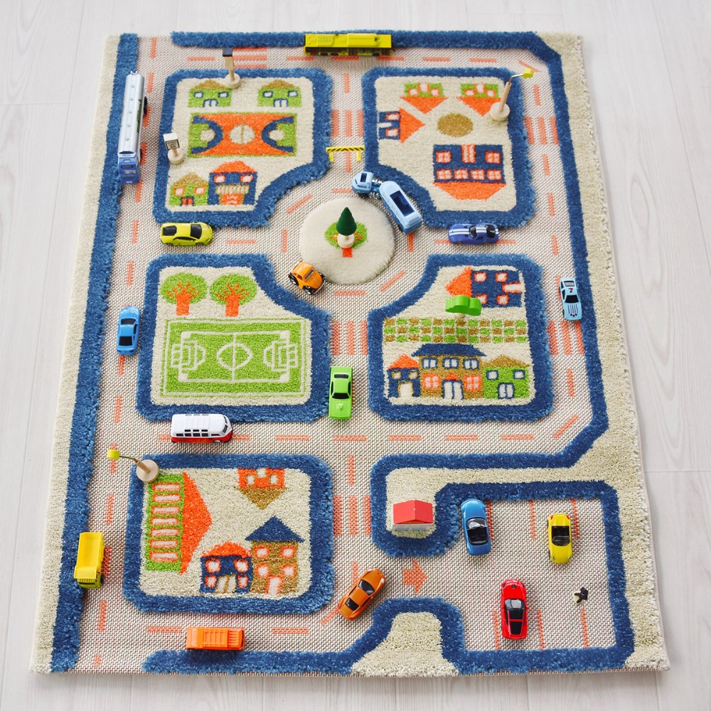 "Alternate Image #5 of IVI Traffic 3D Play Rug - Blue 31.5"" x 44.5"""