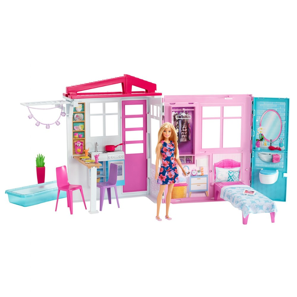 Alternate Image #1 of Barbie® and Close & Go Doll House - Blonde