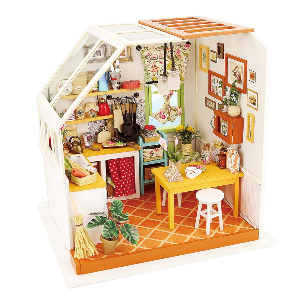 DIY 3D Wooden Puzzles - Miniature House: Jason's Kitchen