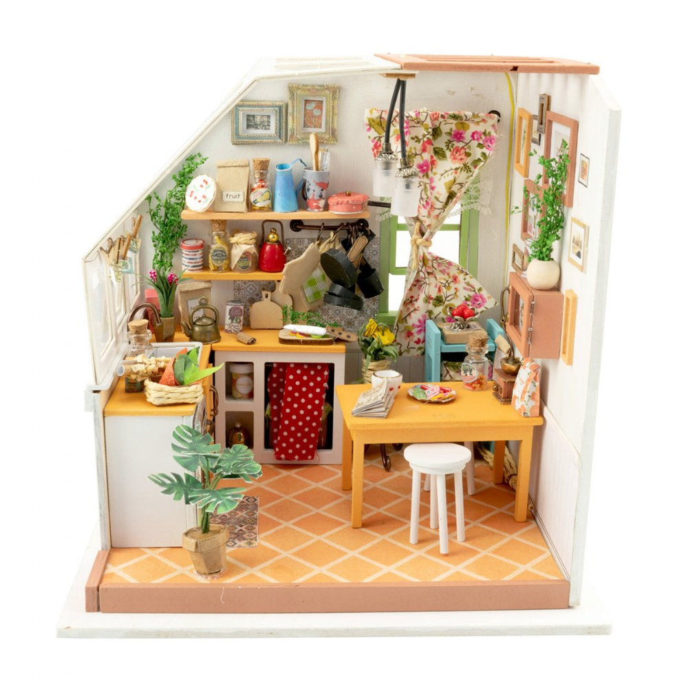 Alternate Image #1 of DIY 3D Wooden Puzzles - Miniature House: Jason's Kitchen