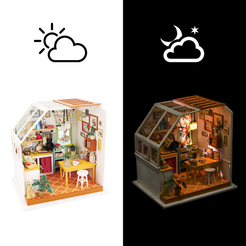 Alternate Image #2 of DIY 3D Wooden Puzzles - Miniature House: Jason's Kitchen
