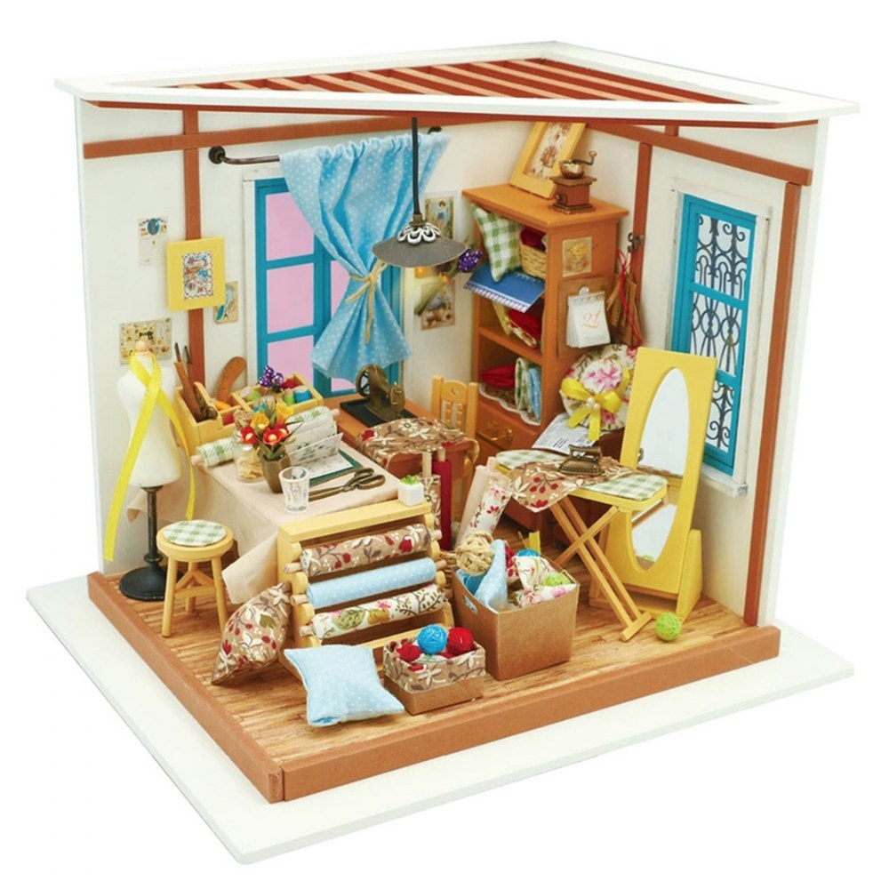 DIY 3D Wooden Puzzles - Miniature House: Lisa's Tailor Shop