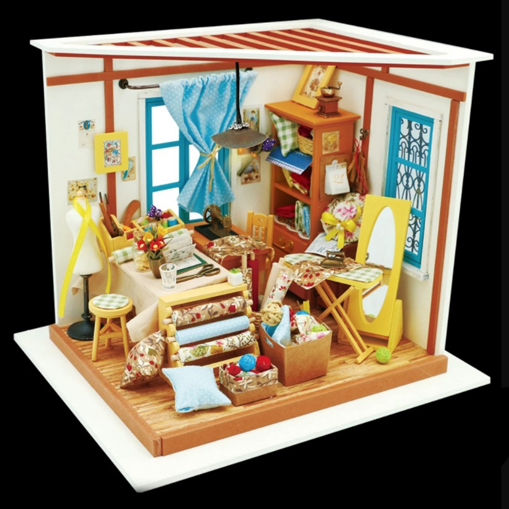 Alternate Image #1 of DIY 3D Wooden Puzzles - Miniature House: Lisa's Tailor Shop