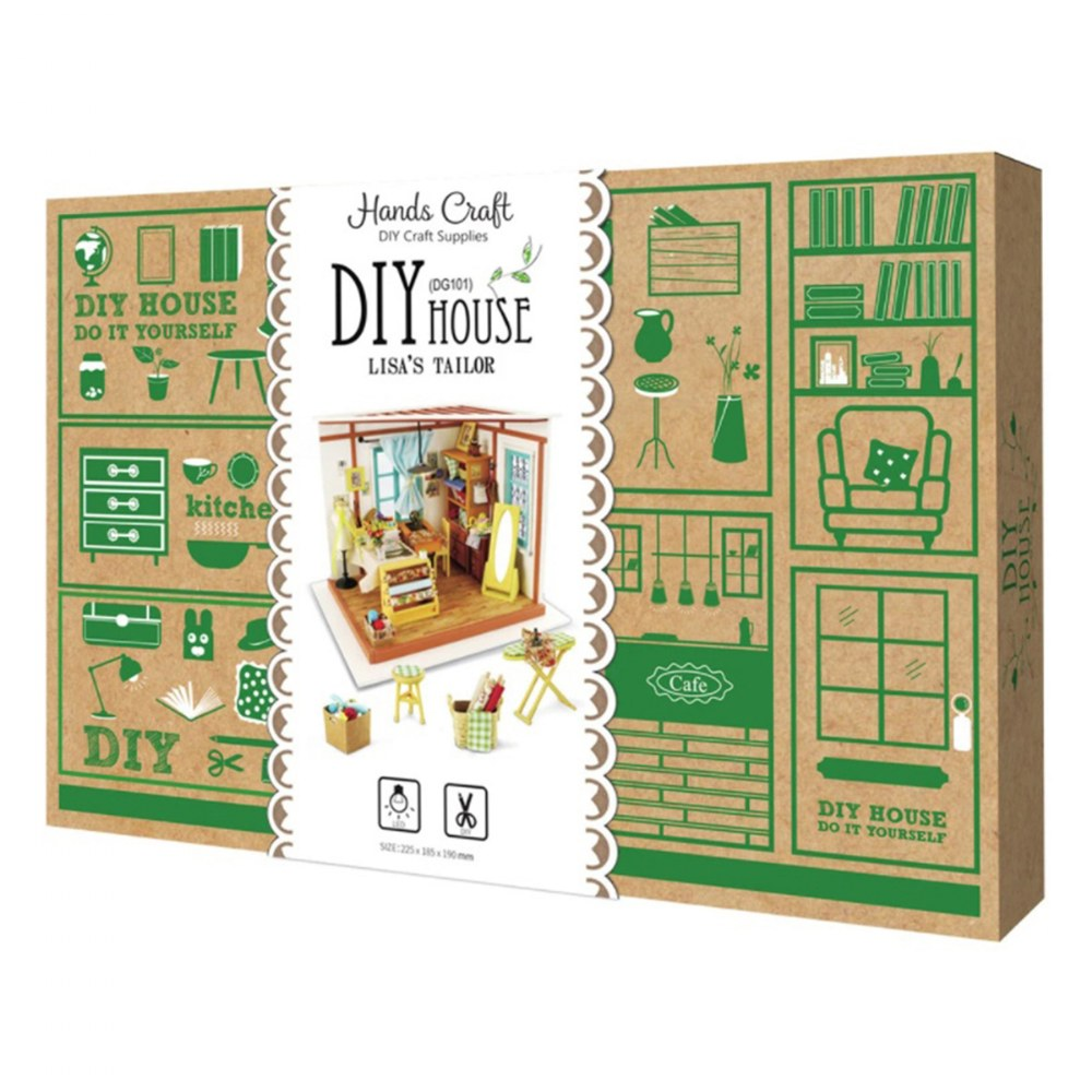 Alternate Image #4 of DIY 3D Wooden Puzzles - Miniature House: Lisa's Tailor Shop