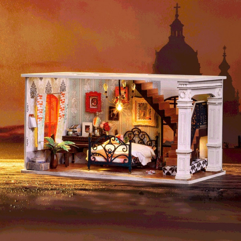 Alternate Image #1 of DIY 3D Wooden Puzzles - Miniature House: Paris in Midnight