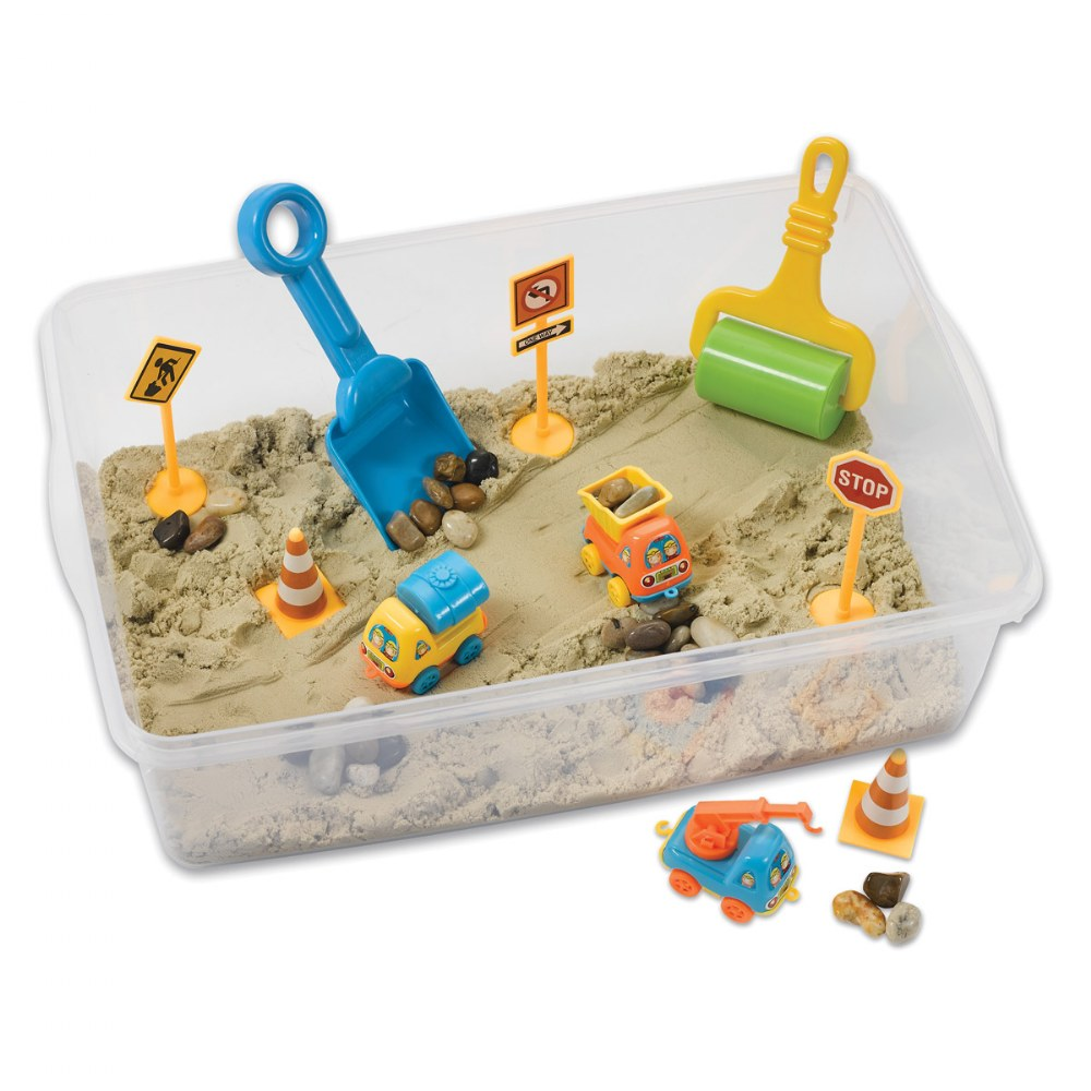 Construction Zone Playset Sensory Bin