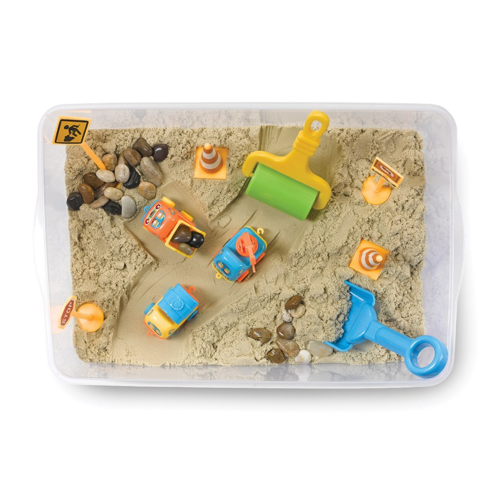Alternate Image #1 of Construction Zone Playset Sensory Bin
