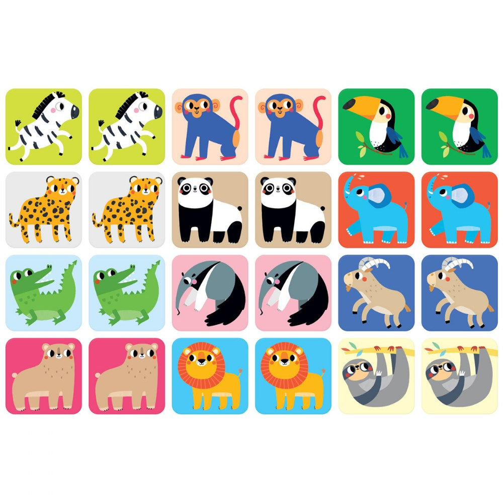 Suuuper Size Memory Game - Wild Animals