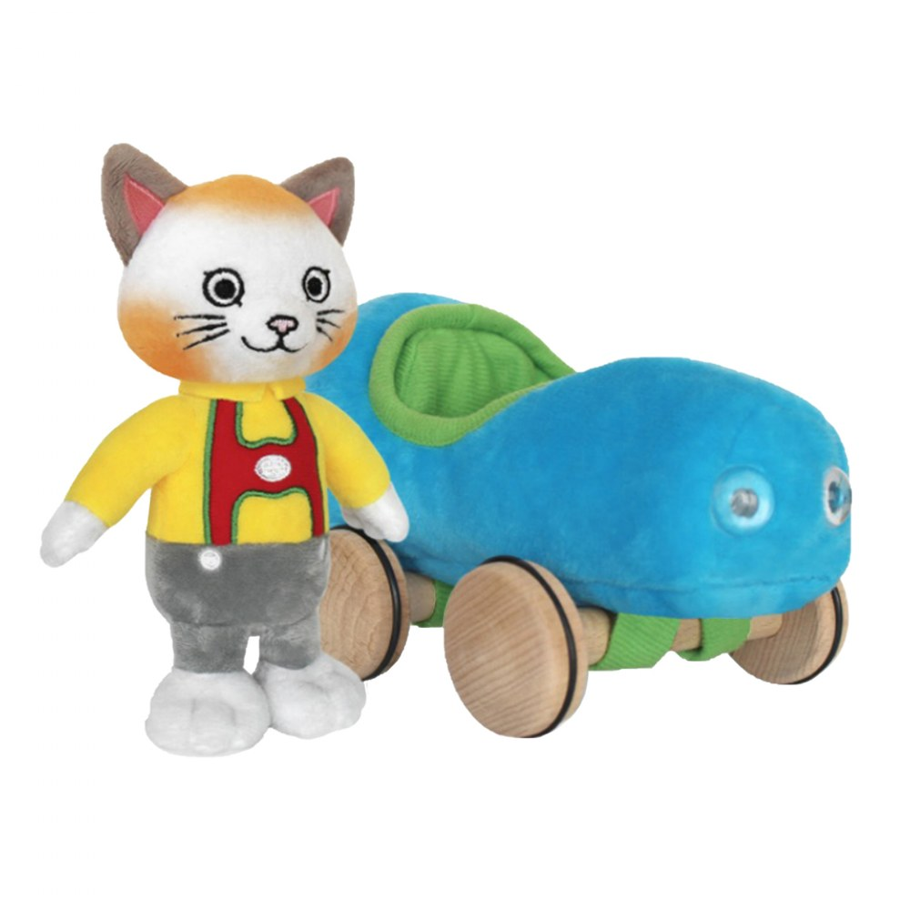 Huckle Cat Soft Toy With Car & Richard Scarry Hardcover Book