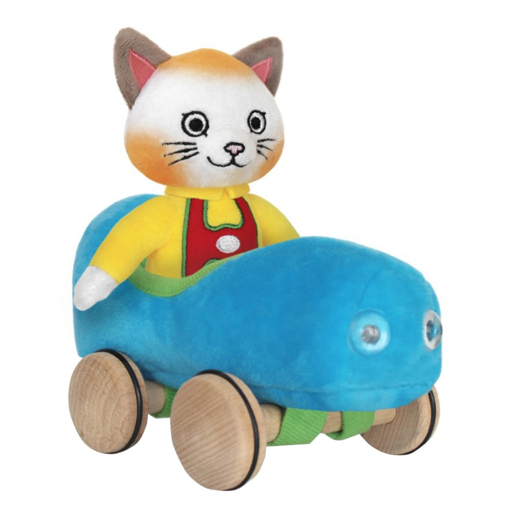 Alternate Image #1 of Huckle Cat Soft Toy With Car & Richard Scarry Hardcover Book