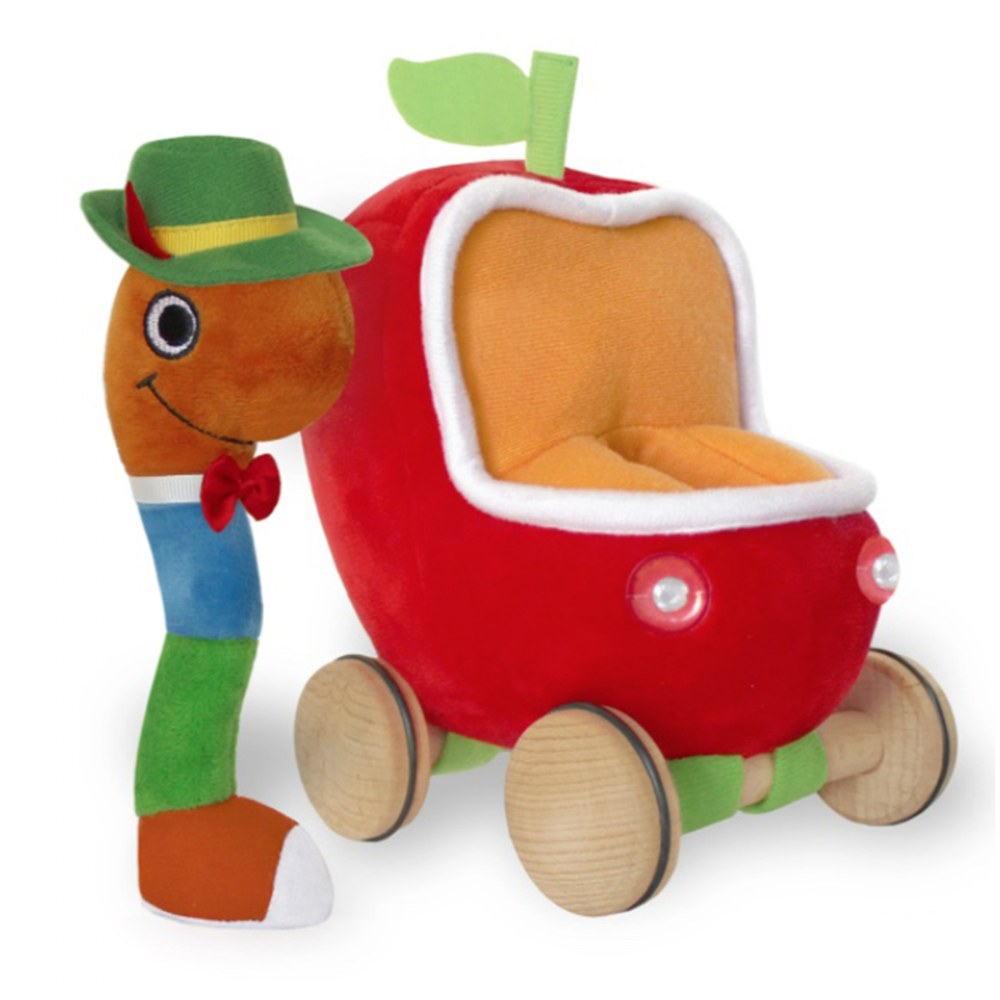 Alternate Image #1 of Lowly Worm Soft Toy In Applecar & Richard Scarry Hardcover Book