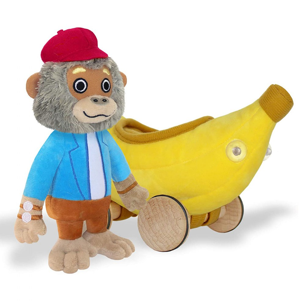 Alternate Image #1 of Bananas Gorilla Soft Toy & Richard Scarry Hardcover Book