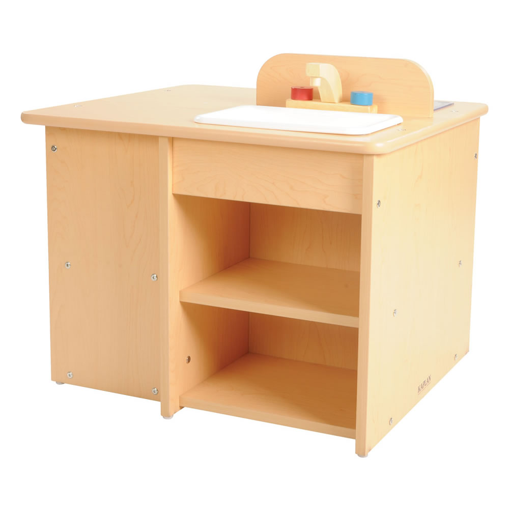 Alternate Image #2 of Classic Maple Laminate Toddler Kitchen
