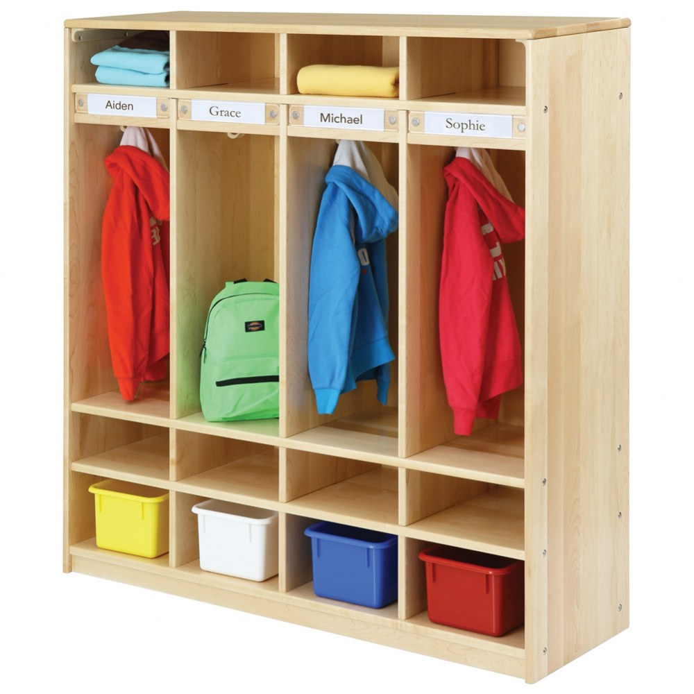 Alternate Image #6 of Premium Solid Maple Coat Lockers