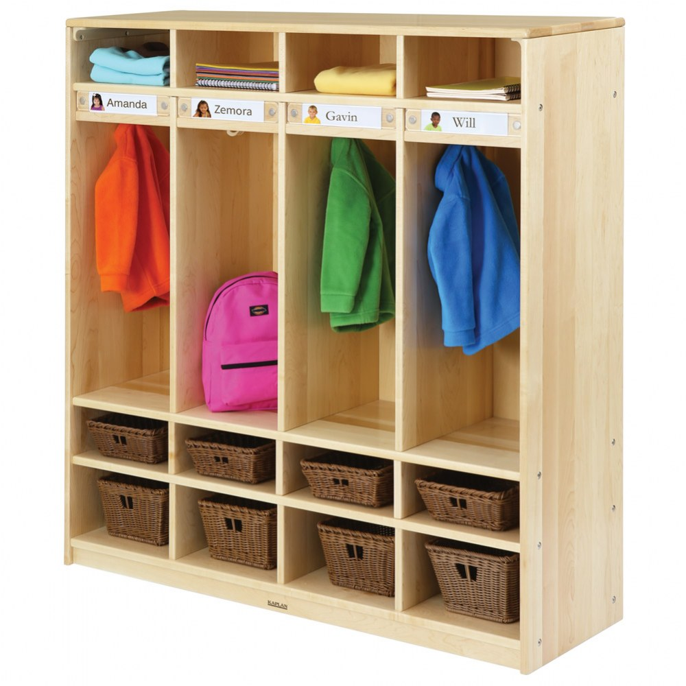Alternate Image #7 of Premium Solid Maple Coat Lockers