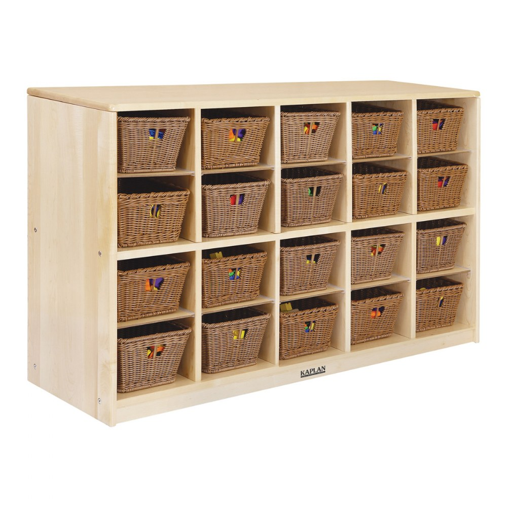 Alternate Image #3 of Premium Solid Maple 20-Bin Storage