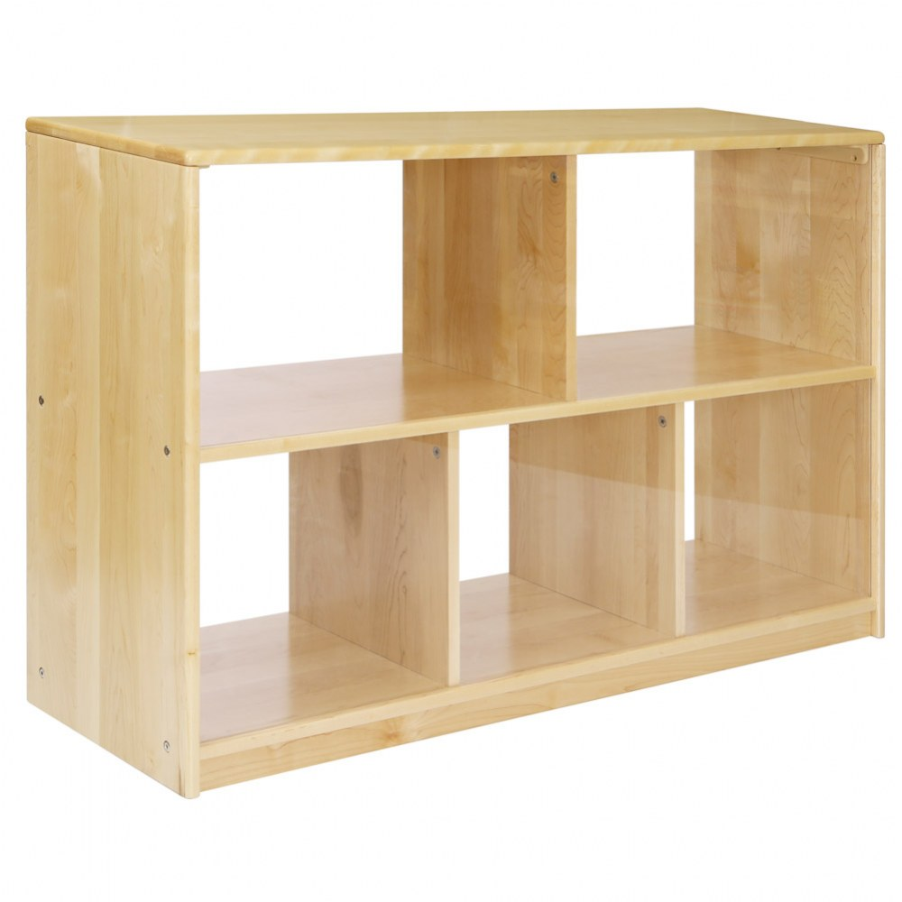 Alternate Image #1 of Premium Solid Maple 5-Compartment Storage Unit