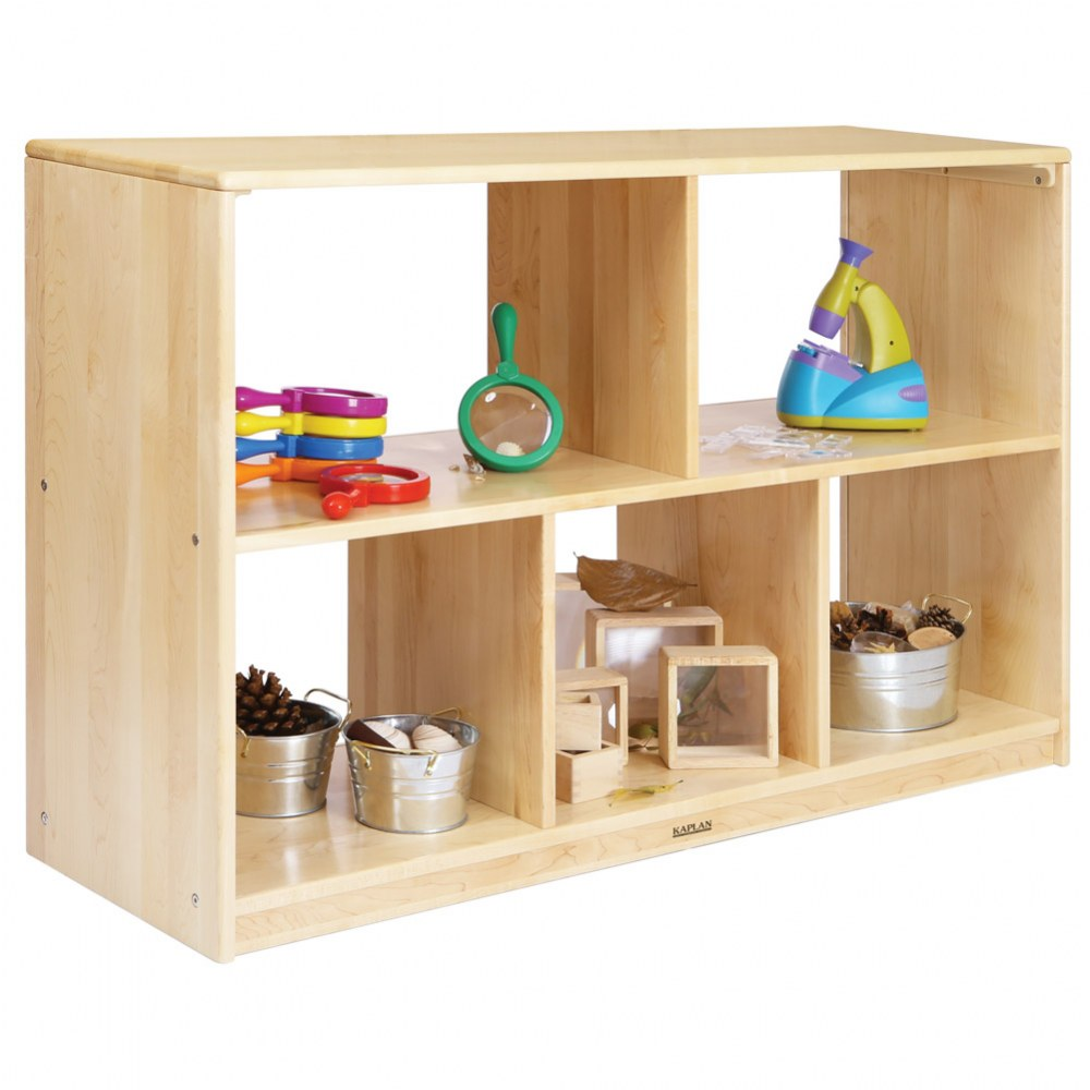 Premium Solid Maple 5-Compartment Storage Unit