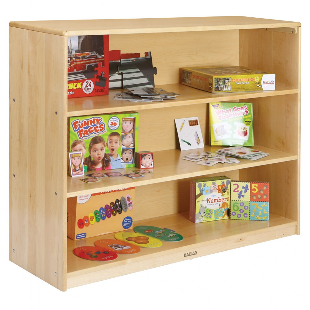 Alternate Image #3 of Premium Solid Maple 3-Shelf Storage