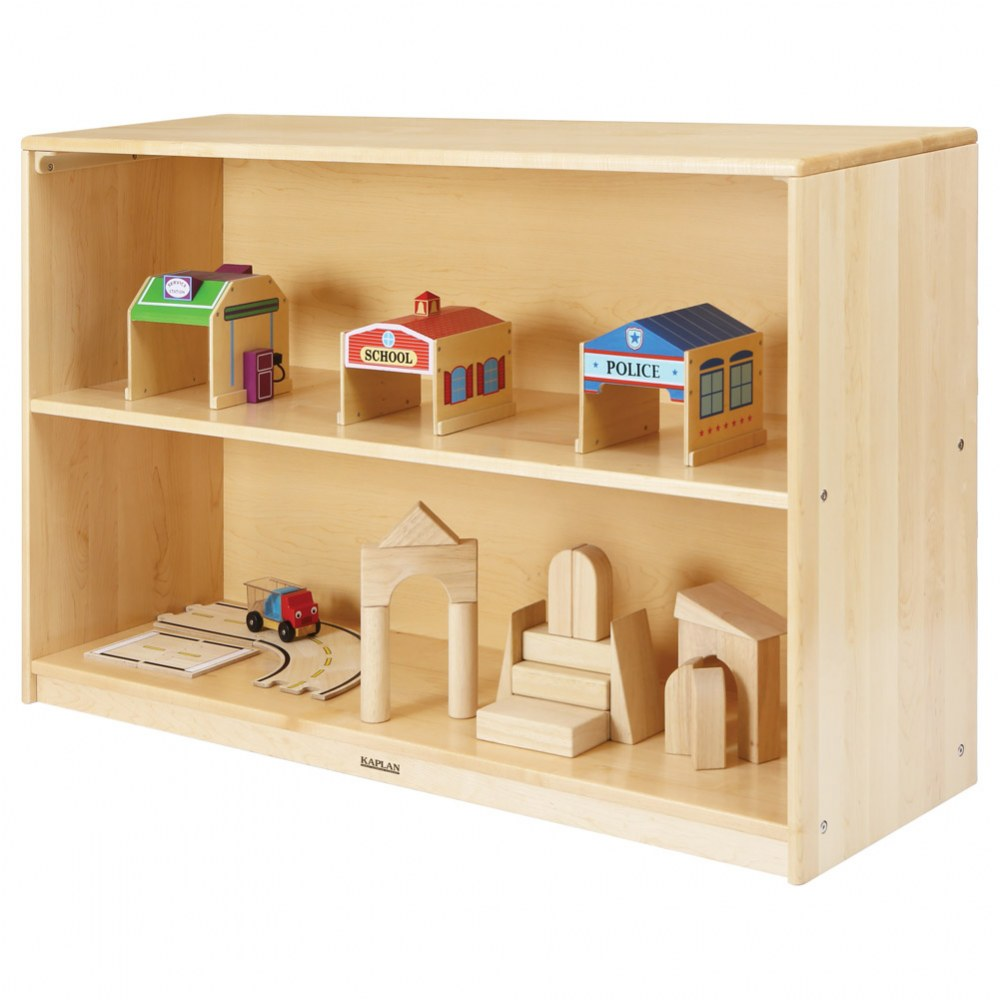 Alternate Image #1 of Premium Solid Maple 2-Shelf Storage