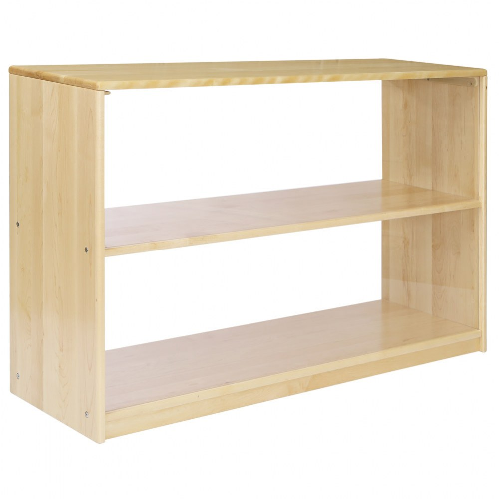 Premium Solid Maple 2-Shelf Storage
