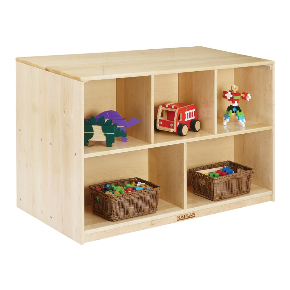 Alternate Image #1 of Premium Solid Maple Preschool Mobile Storage Island