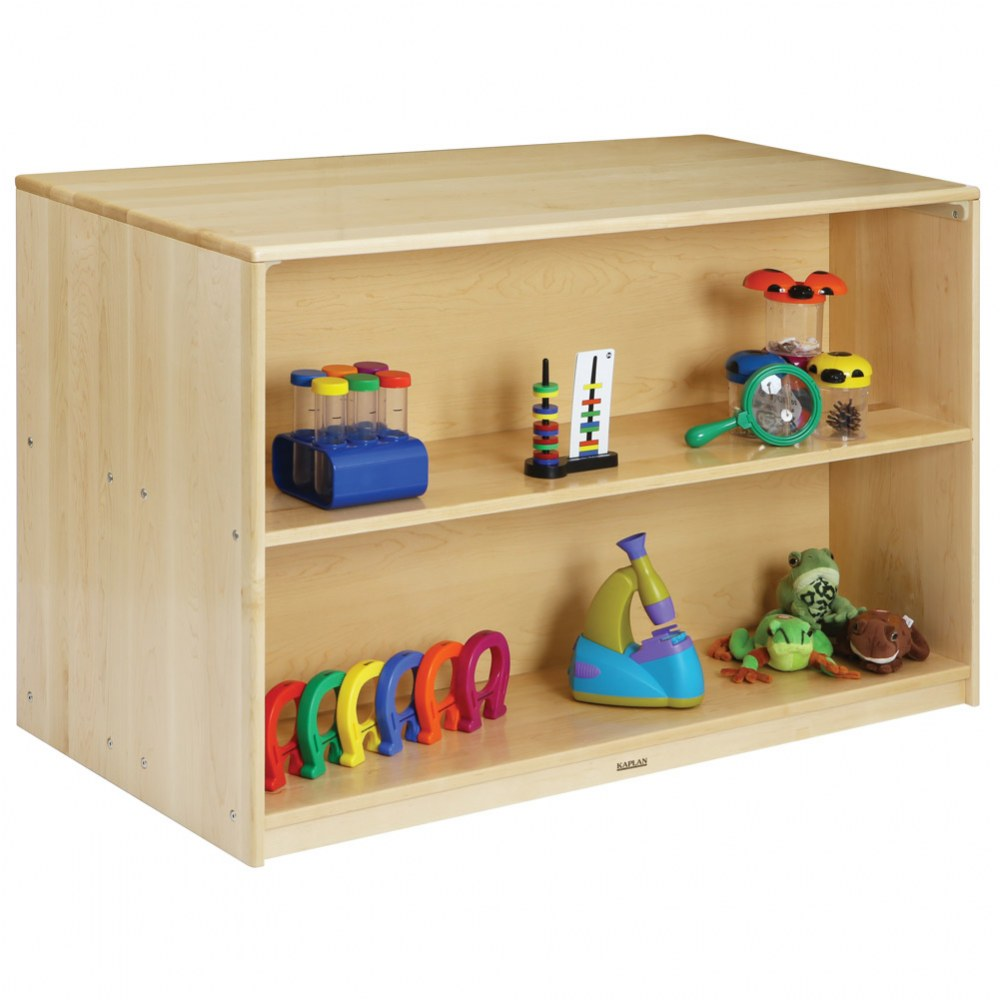 Alternate Image #2 of Premium Solid Maple Preschool Mobile Storage Island