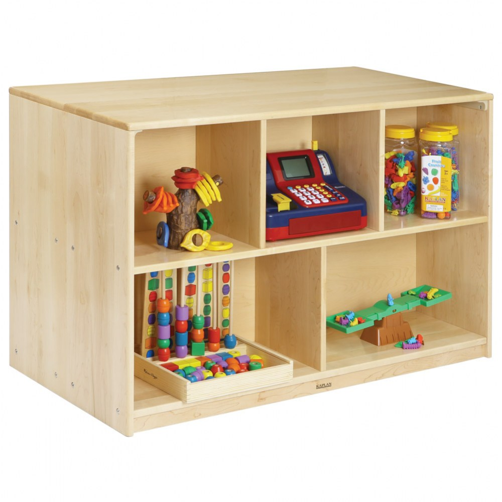 Alternate Image #3 of Premium Solid Maple Preschool Mobile Storage Island