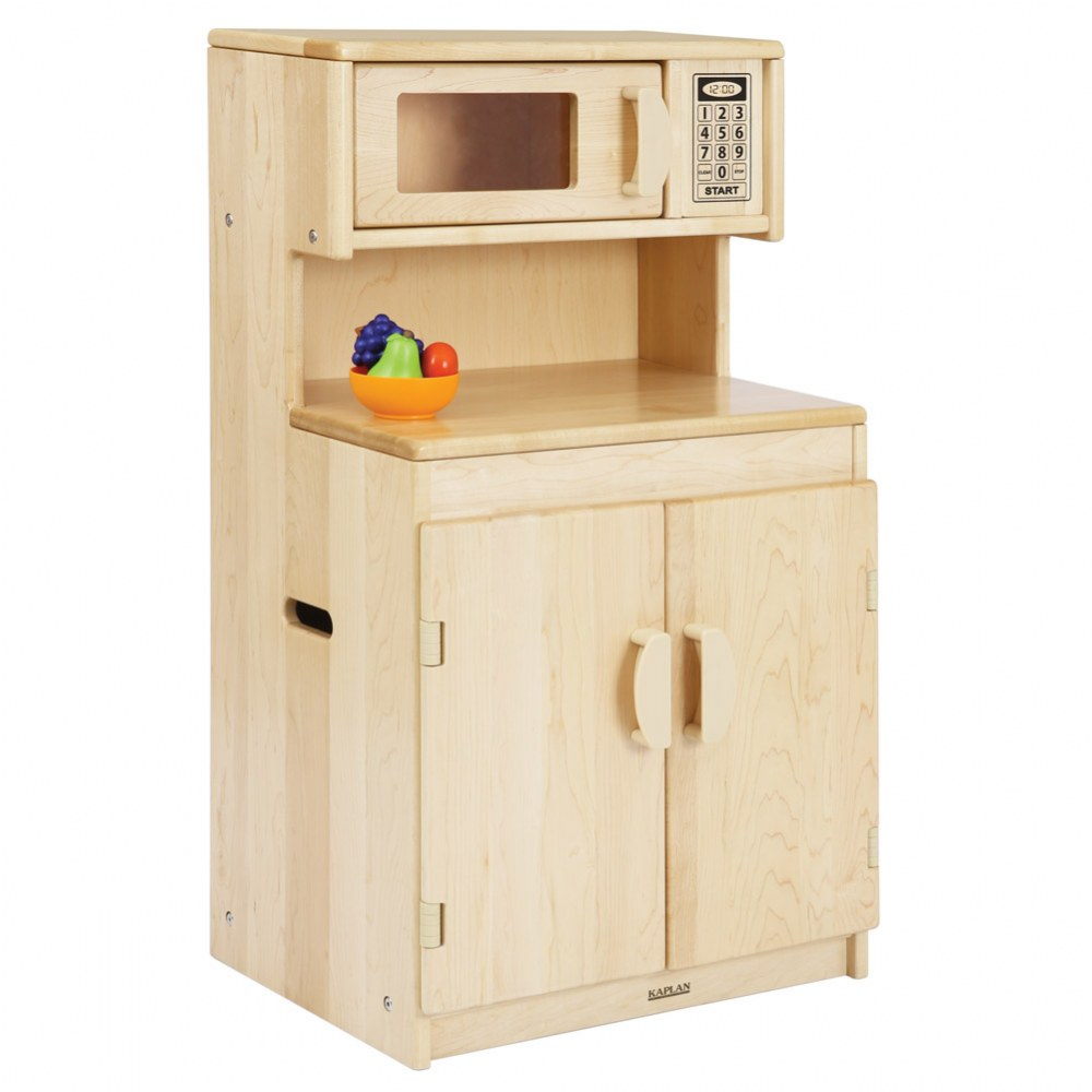 Alternate Image #1 of Premium Solid Maple Cupboard/Microwave - Factory Second