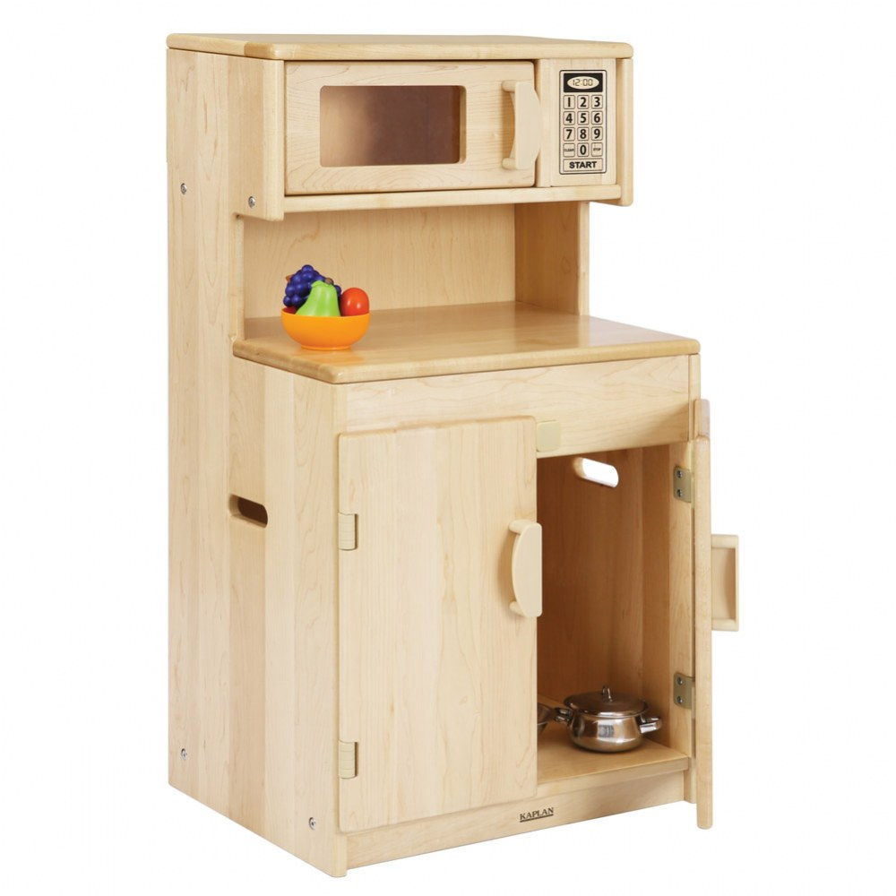 Alternate Image #2 of Premium Solid Maple Cupboard/Microwave - Factory Second