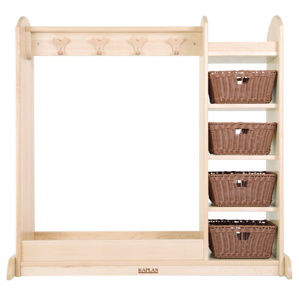 Alternate Image #1 of Premium Solid Maple Dress-Up Center with 4 Baskets