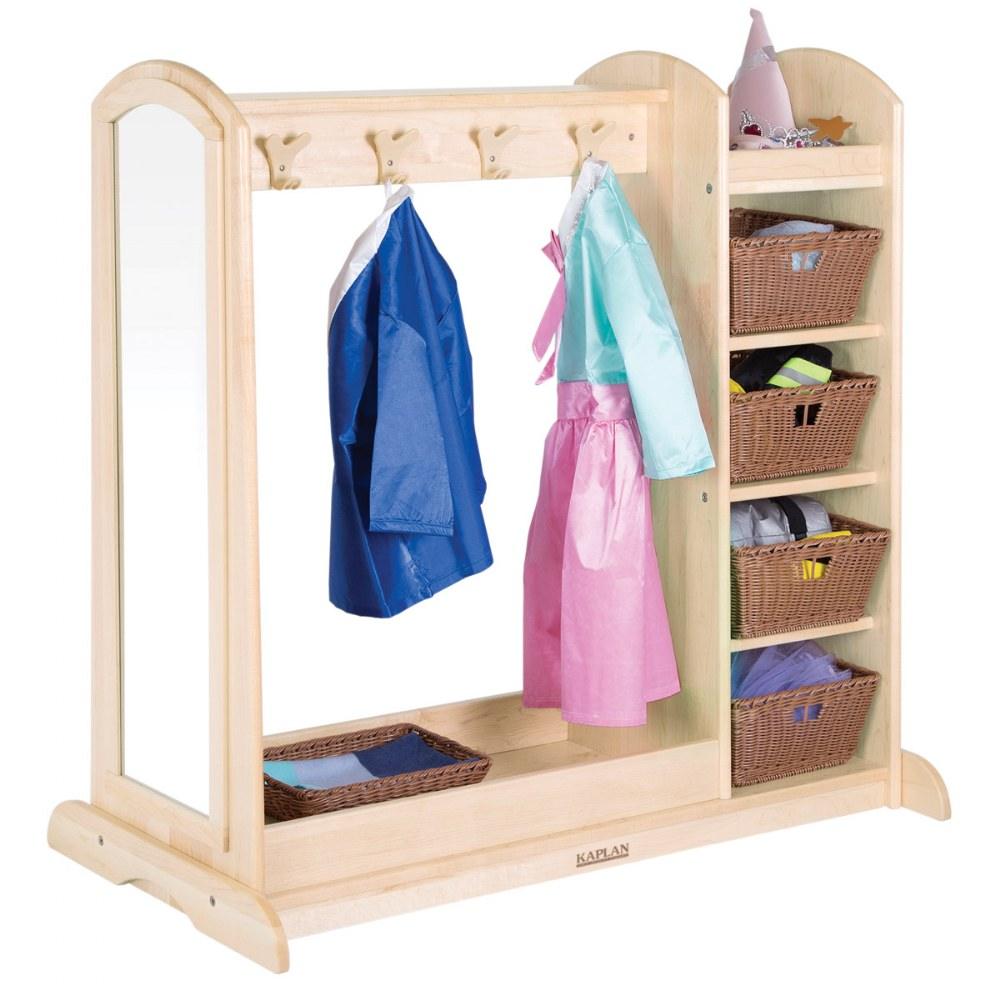 Alternate Image #2 of Premium Solid Maple Dress-Up Center with 4 Baskets