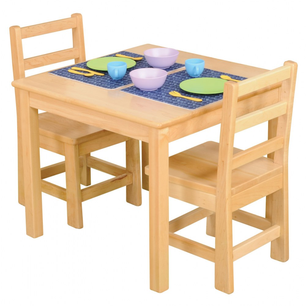 Premium Solid Maple Table & Chair Set