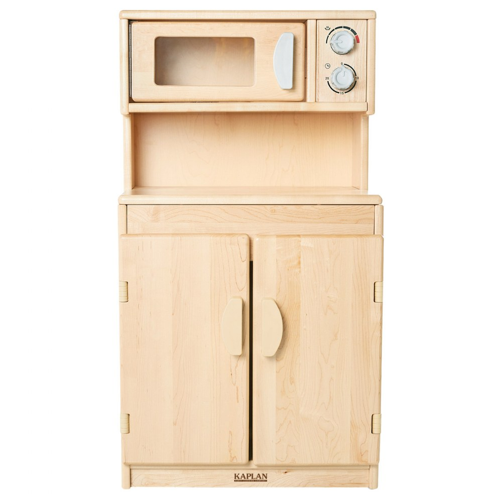 Alternate Image #2 of Premium Solid Maple Microwave and Cupboard - Factory Second