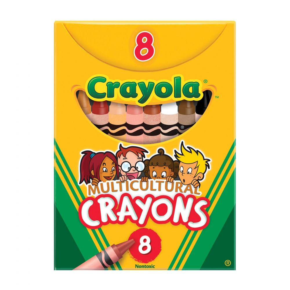 Crayola® 8-Count Multicultural Crayons - Standard (Single Box)