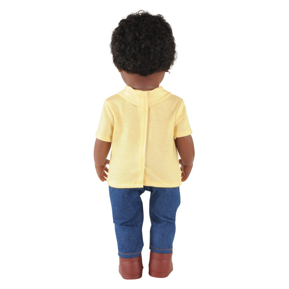 "Alternate Image #1 of 16"" Multiethnic Doll - African American Boy"