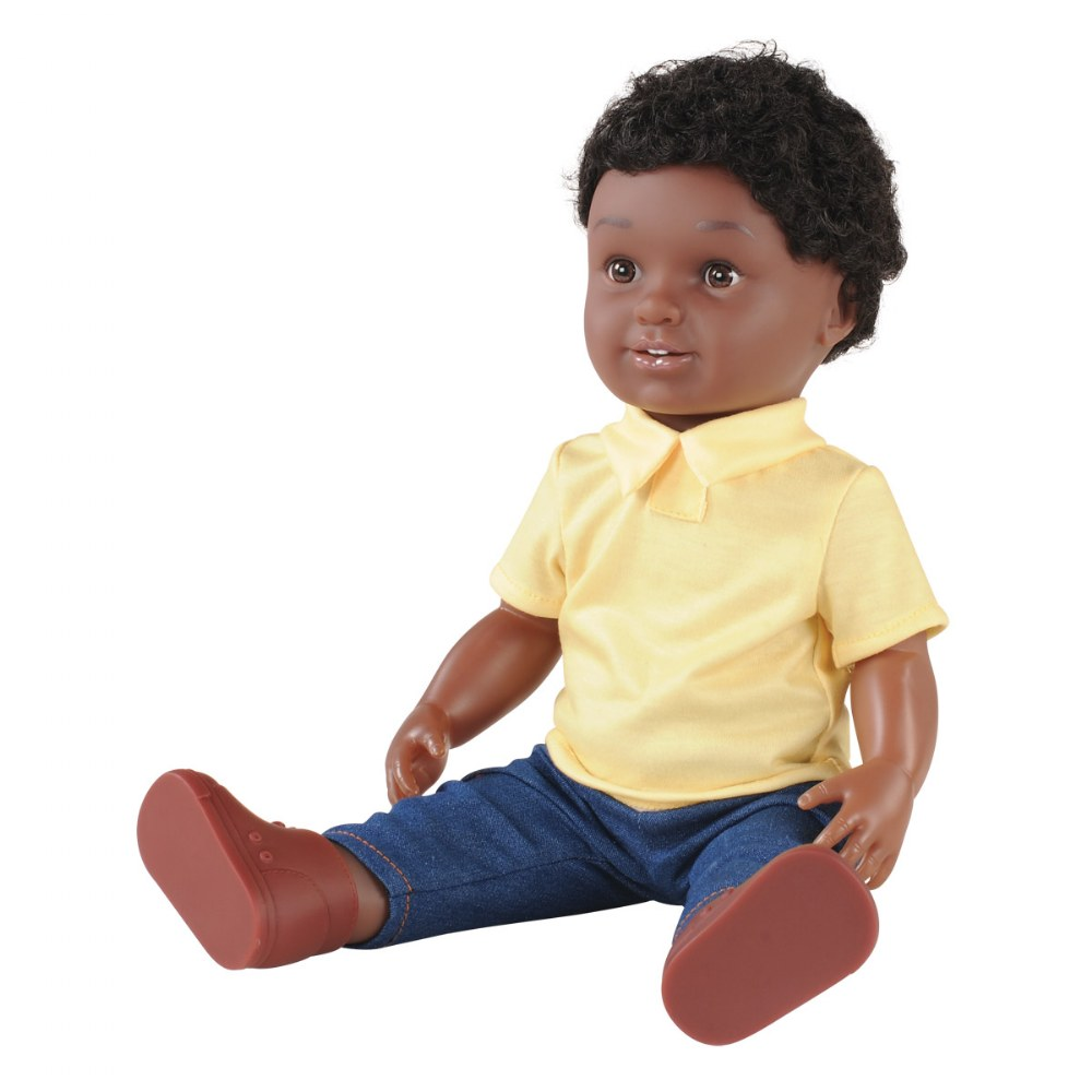 "Alternate Image #2 of 16"" Multiethnic Doll - African American Boy"