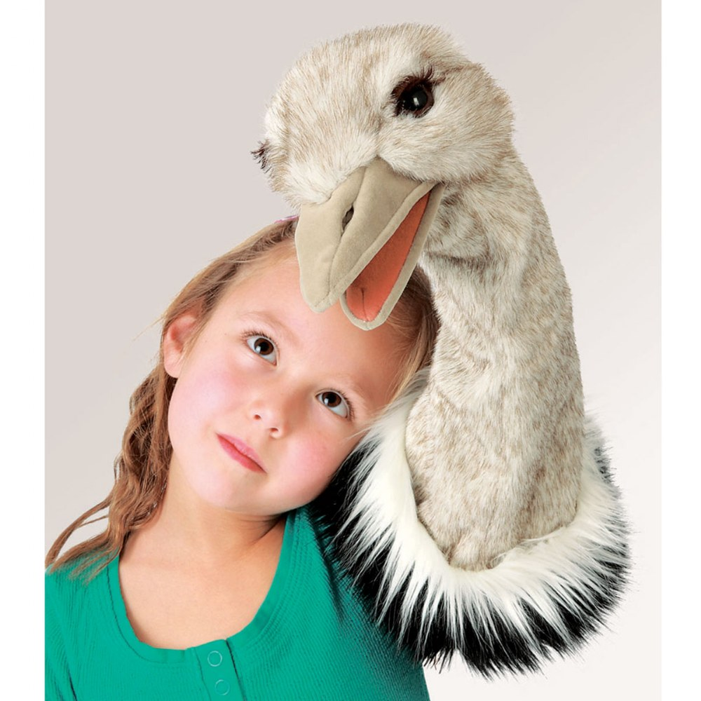 Alternate Image #2 of Ostrich Stage Hand Puppet with Movable Mouth