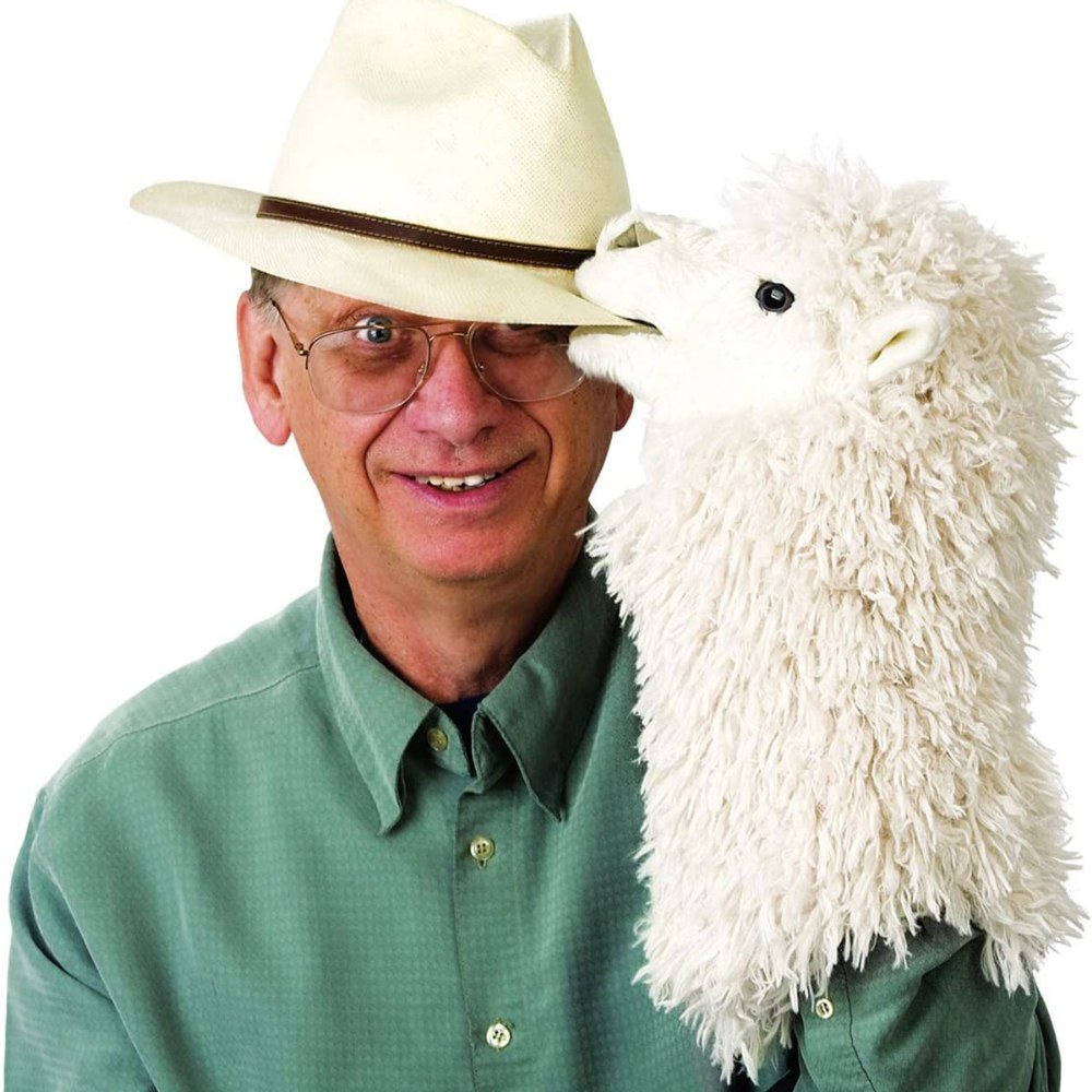 Alternate Image #2 of Alpaca Stage Hand Puppet