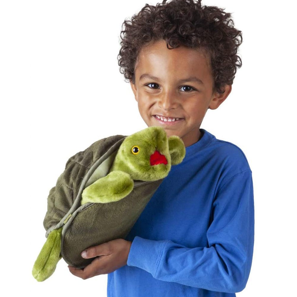 Alternate Image #2 of Turtle Plush Hand Puppet