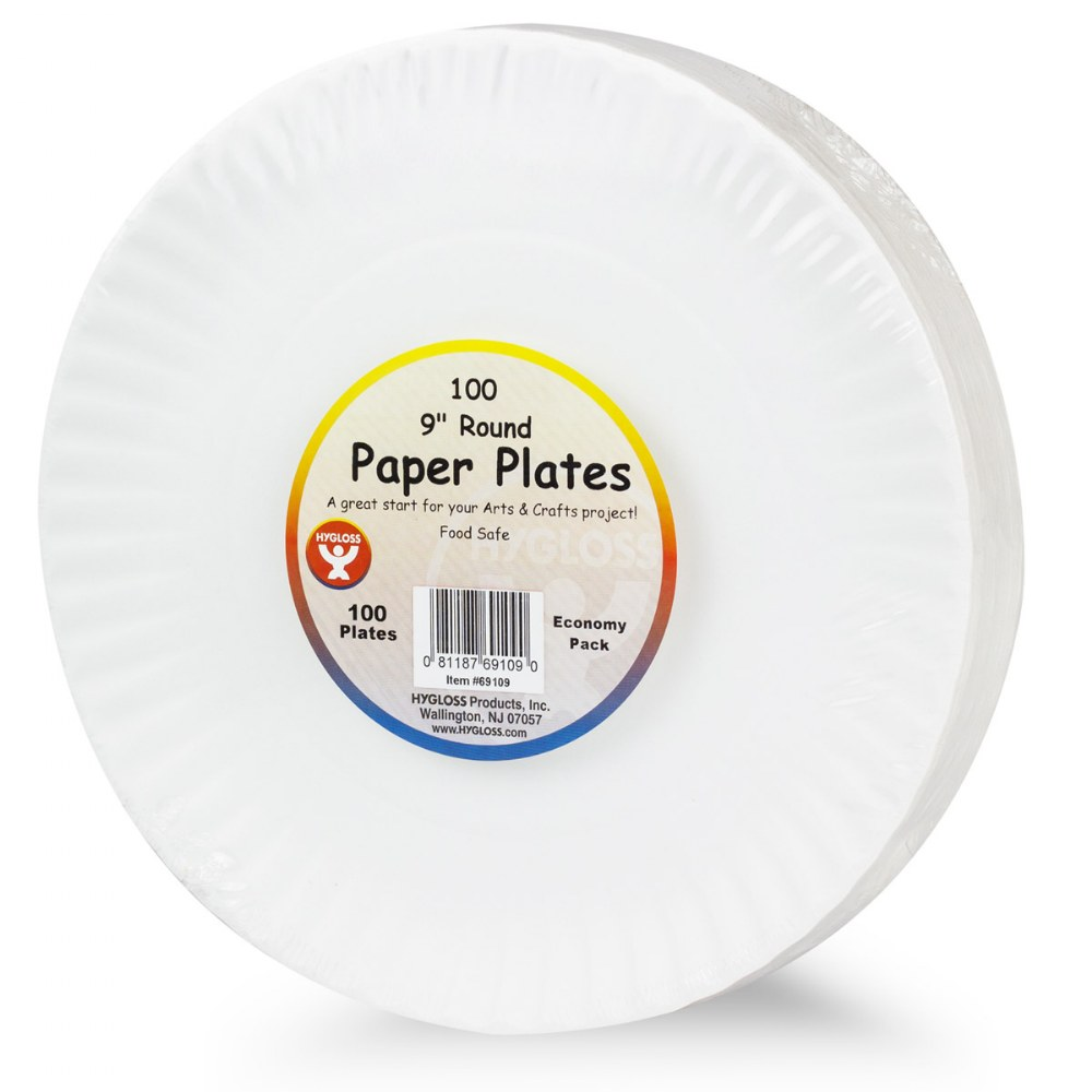 "Alternate Image #1 of 9"" Paper Plates - 100 Count"