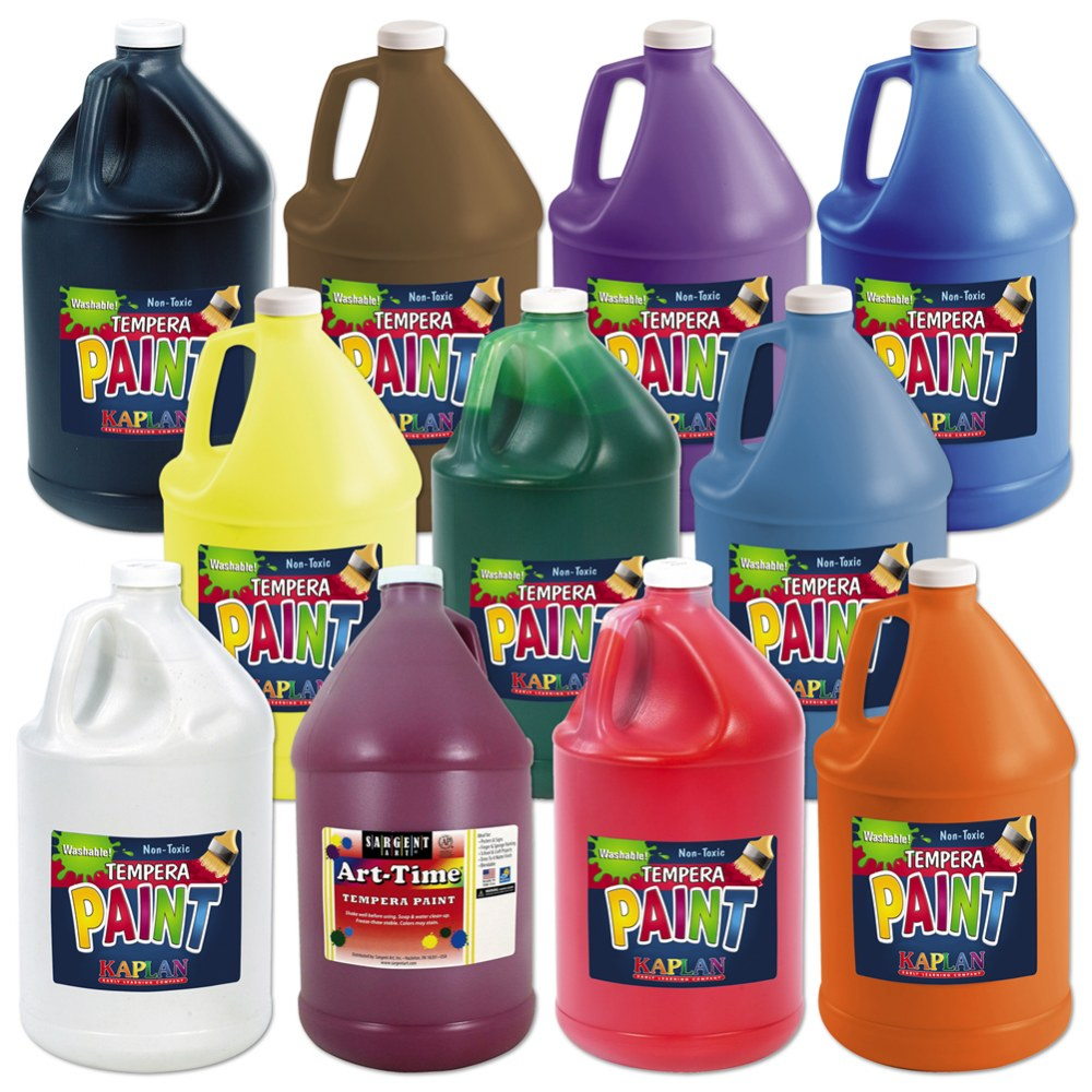 Kaplan Kolors Tempera Gallon - 11 Colors