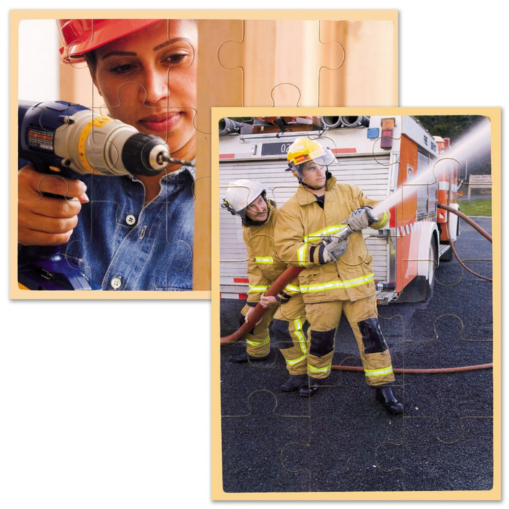 Alternate Image #1 of Community Helpers / Career Puzzles - Set of 12