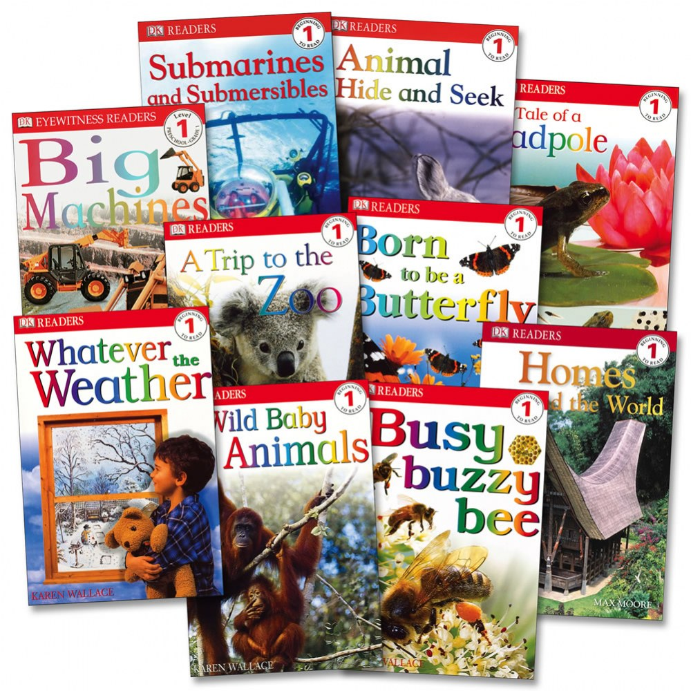 DK Readers Sets - Beginning to Read Level 1 (Set of 10)