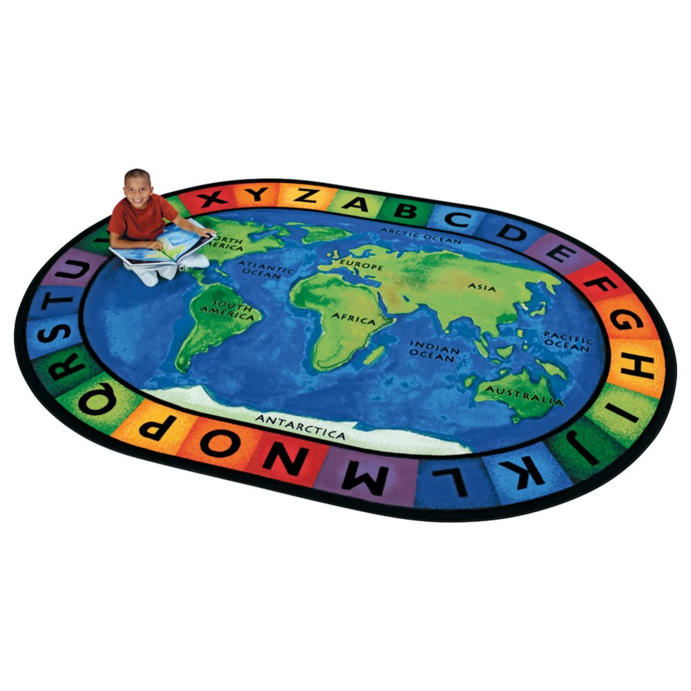 "Circletime Around the World - 6'9"" x 9'5"" Oval"